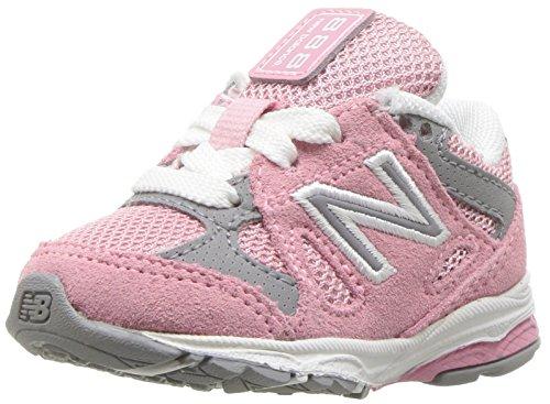 New Balance Girls' 888v1 Running Shoe, Pink/Steel, 3 XW US Infant