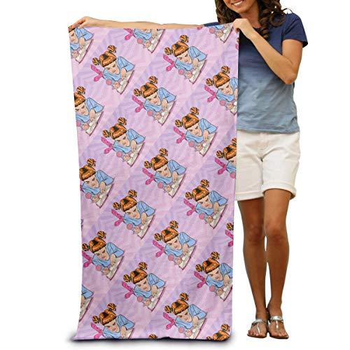 IUBBKI Toallas de baño Pink Girl Writing A Diary Toallas de playa para adultos, toallas de baño de microfibra suave, ligeras, de secado rápido y tecnología superabsorbente, 31 x 51 pulgadas