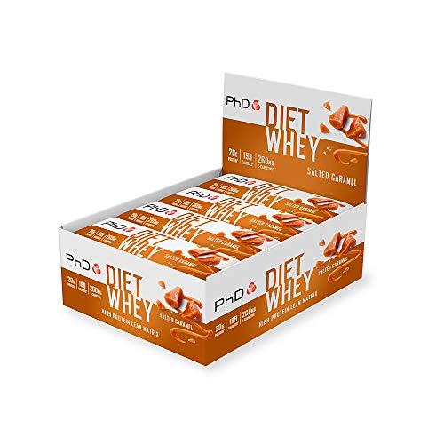 PhD DE Nutrition Diät Molke Riegel, High Protein Riegel mit Gesalzenem Karamell Geschmack, 12 x 65 g Box, 830 g