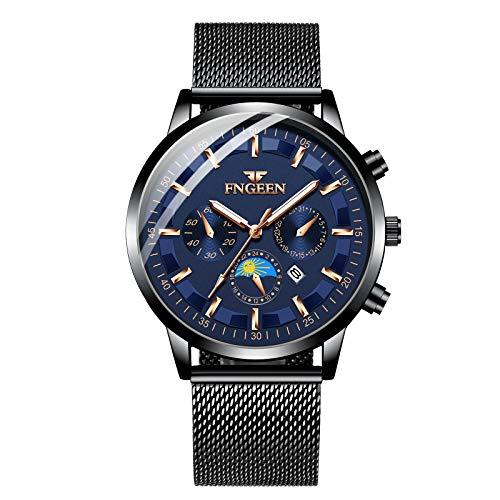 Infinity U-Watches per uomo impermeabile Cinturino in acciaio inossidabile Orologi da polso al quarzo analogici Orologio da uomo per uomo Puntatore luminoso