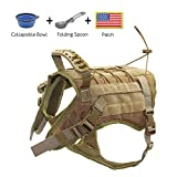 EJG Tactical Dog Harness Vest, with Molle System & Velcro...