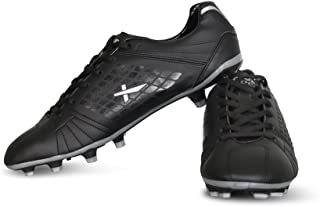 Vector X Velocity Football Shoes (Black-Silver)