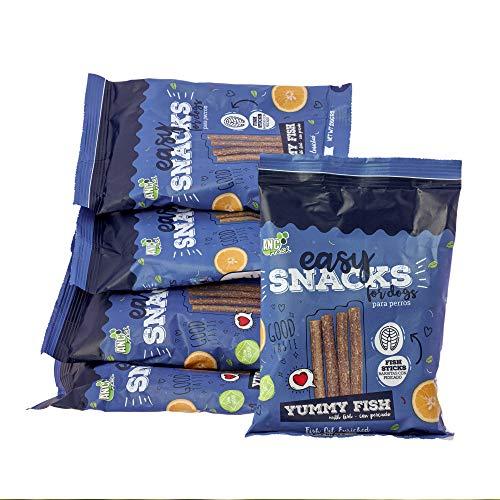 Rc Ocio Snacks für Hunde |1 Packung 5 Beutel | Hundesnacks mit natürlichem Hühnerfleisch (70%). Kekse für Hunde gegen Mundgeruch, fettarm und natürlich perfekt als Trainingsleckerli (500gr)