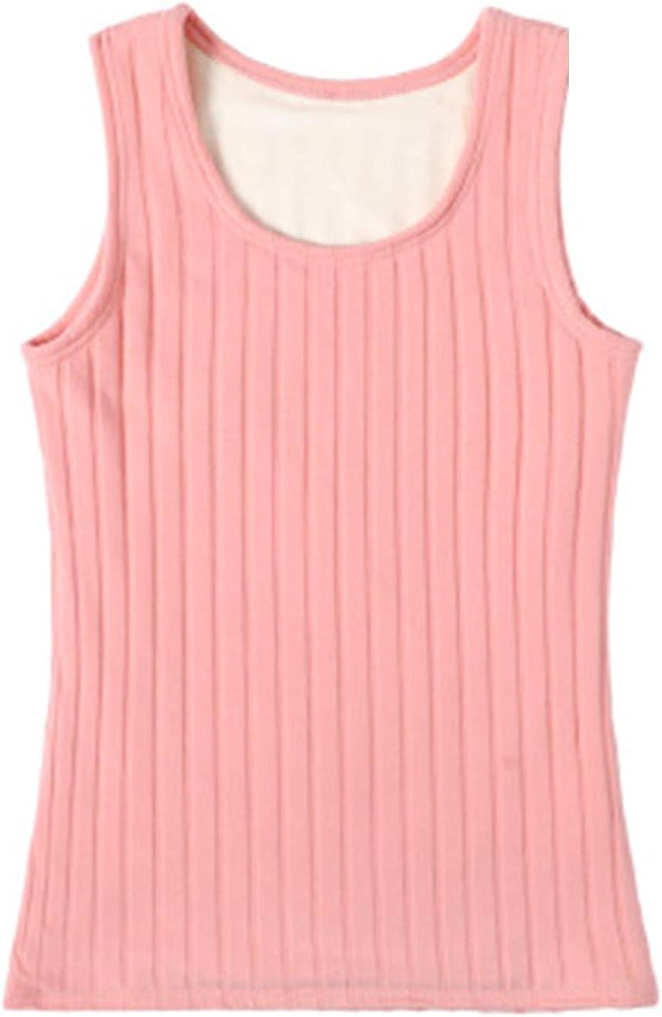Flygo Women's Thermal Underwear Winter Warm Base Layer Fleece Lined Cami Tank Tops