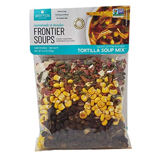 Frontier Soups Homemade in Minutes South Of The Border Tortilla Soup, 4.5 oz, 2 pk