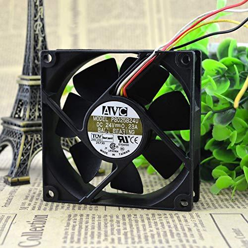 8 cm 8 cm 8025 ventilador de refrigeración para computadora industrial P8025B24U 24 v 0.23 a convertidor de frecuencia