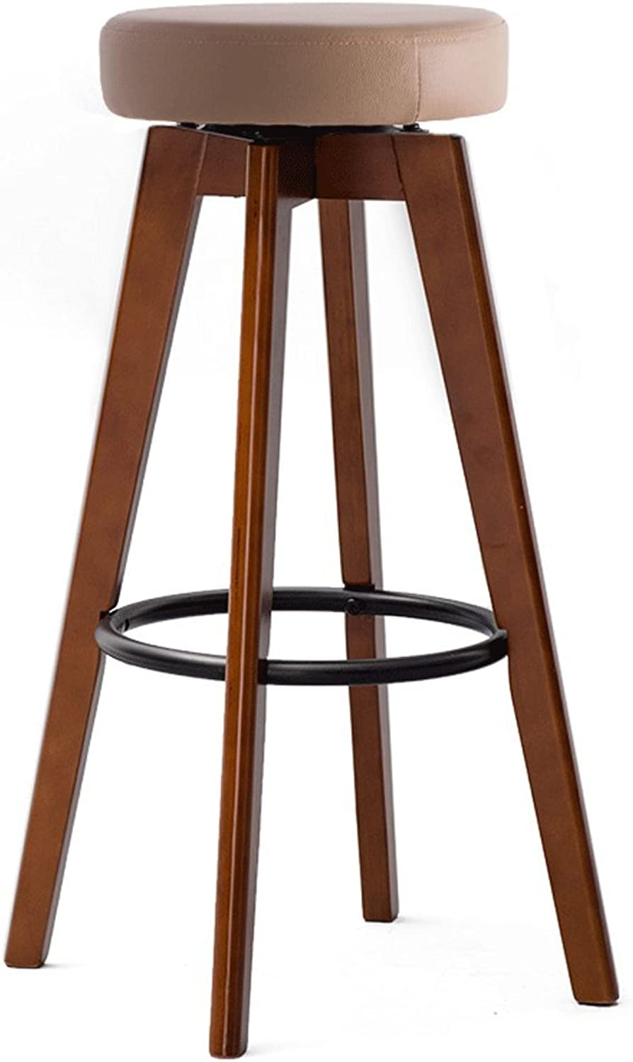 TXXM Barstools Bar Chair Solid Wood Bar Stools redating Creative Chair (color   K, Size   74cm)