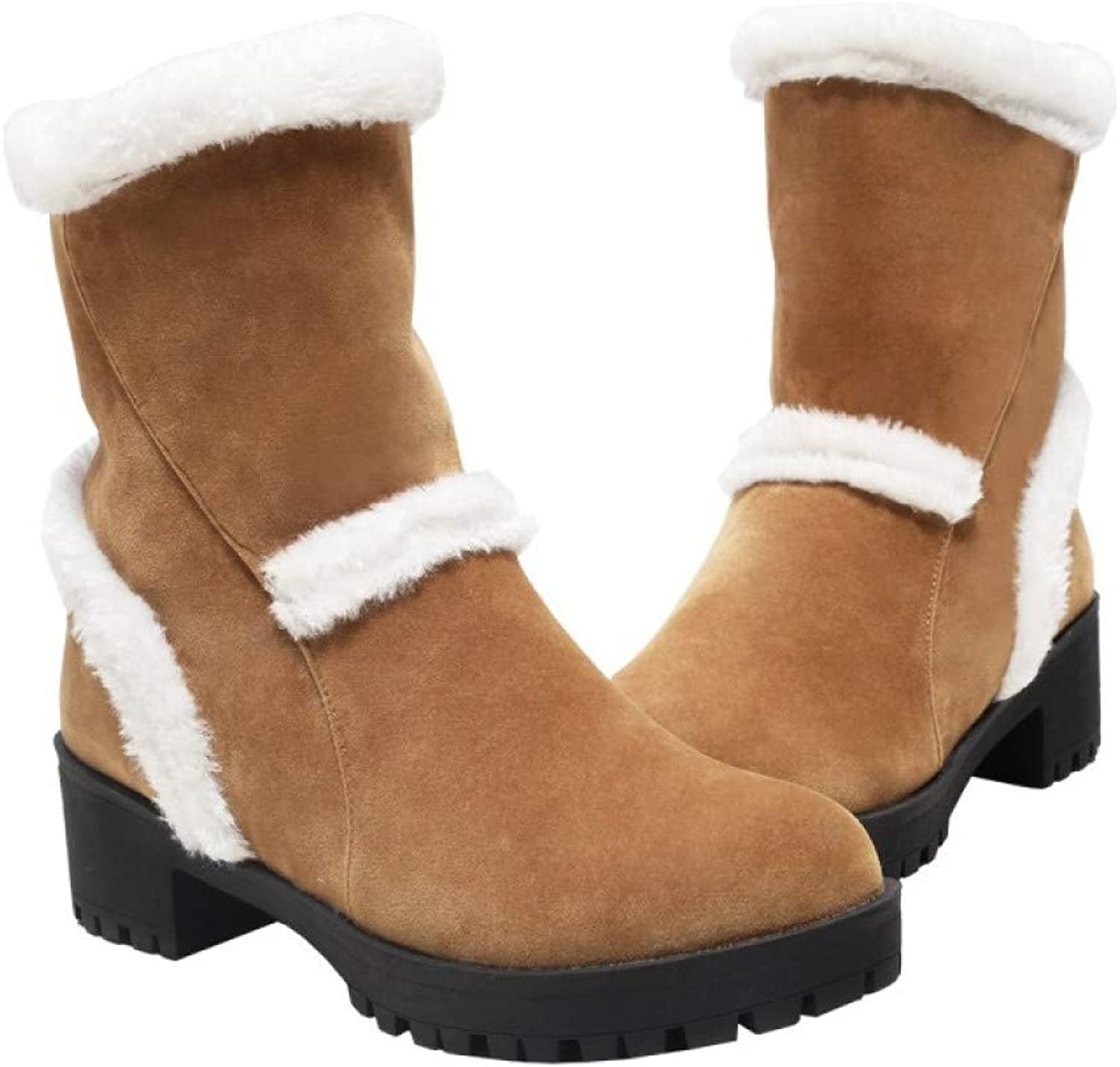 Women Snow Boots,Thick Cotton shoes High-Heeled shoes Fall and Winter Boots for Women