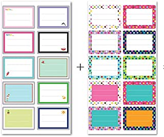 IMagicoo 200 Pcs Cute Name Tag Label Sticker School Office Party Stickers, 2'' x 1.4''