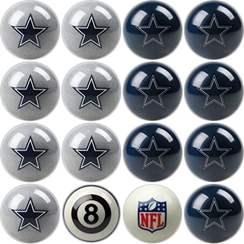 Imperial Officially Licensed NFL Merchandise: Home vs. Away Billiard/Pool Balls, Complete 16 Ball Set, Dallas Cowboys
