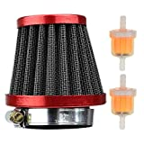 38mm Performance Red Air Filter Plastic Inline Fuel Filters for Chinese GY6 50c 139QMB Motorcycle Scooter Moped 50cc 110cc 125cc SDG SSR Dirt Pit Bike