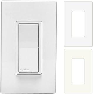 Leviton DD0SR-1Z 120VAC Decora Digital Smart Coordinating Switch Remote With Almond & White Snap On Wallplates