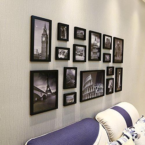 Fotolijst set-16Box Massief Hout Amerikaanse stijl houten Rechthoek fotolijst
