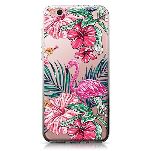CASEiLIKE Mi 5C Hülle, Mi 5C TPU Schutzhülle Tasche Hülle Cover, Tropischer Flamingo 2239, Kratzfest Weich Flexibel Silikon für Xiaomi Mi 5C