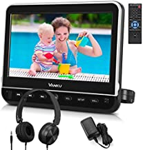 Vanku 10.1 Inch Car Headrest DVD Player with Mount, Headphone, HDMI Input, 1080P Video, Region Free, USB SD, AV in Out, Last Memory