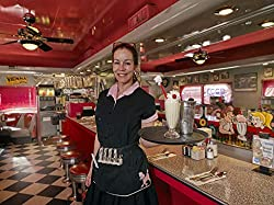 Image: 24 x 36 Giclee Print of Waitress Tara Keogh Serves a Vanilla ice-Cream soda at The Nostalgic 5 and Diner Diner-Style Restaurant in Phoenix Arizona x04 2018 Highsmith | by Vintography