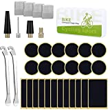 EElabper Neumático De La Bicicleta Kit De Reparación De Neumáticos Sin Cola Punción Bicicletas Patch Set con Metal Raspadores 35pcs