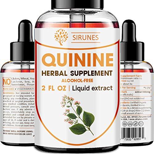 SIRUNES Quinine Tincture Extract Quinine Dried Bark Herbal Supplement Quinine Immune System Support Cinchona Bark Liquid Drops Alcohol and Gluten Free