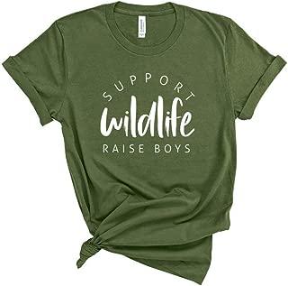 Support Wildlife Raise Boys T-Shirt, Funny Mom Life Shirt, Boy Mom, Mama Tee, Unisex Mom Shirt, Womens T Shirt, Gift For Mom
