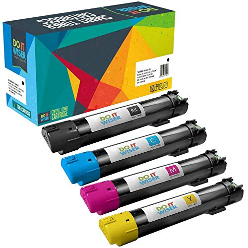 Do it Wiser Compatible Toner Cartridge Replacement for Dell 5130 5130CDN (4-Pack)