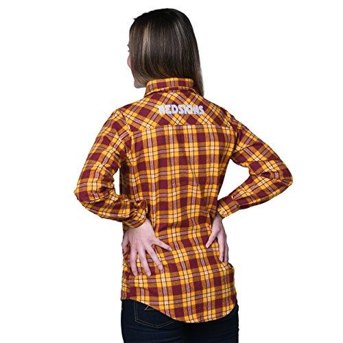 Washington Redskins 2016 Wordmark Basic Flannel Shirt - Womens Small