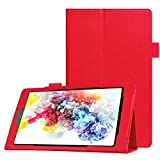 Onn 7 inch Tablet Case, PU Leather Protective Case with Multi-Angle Stand Folio Cover Case for Onn 7' Tablet (Red)