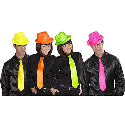 Aptafêtes - AC1268 - Cravate satin fluo couleurs assorties