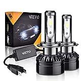 WZTO H7 LED Phare Ampoules Voiture, 10000LM Feux Avants Auto Ampoule LED,Auto Kit de Conversion Ampoules pour Voiture 6000K Blanc IP65 Etanche (2 Ampoules)