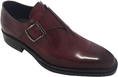 Garofalo Gianbattista stringato Con Fibbia, Chaussures de Ville à Lacets Lacets Lacets pour Homme Bordò Vinaccio b08