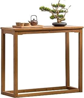 HANSHAN Table d'appoint Vestibule Console, Bambou Nouveau Style Chinois Canapé Table D'appoint Contre L'entrée Armoire Mur...