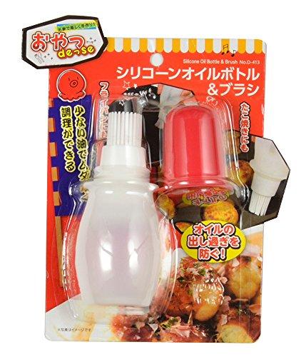 パール金属 シリコーンオイルボトル&ブラシ おやつDEっSE D-413 ホワイト