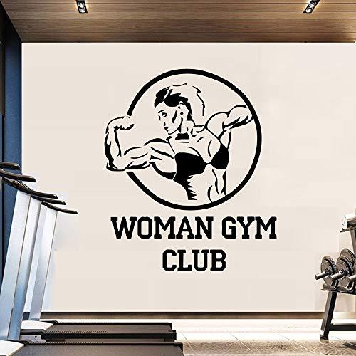 sxh28185171 Mujer Club de Fitness Etiqueta de la Pared del Arte Sala de Gimnasio decoración del Dormitorio Belleza Etiqueta de la paredM 28cm X 32cm