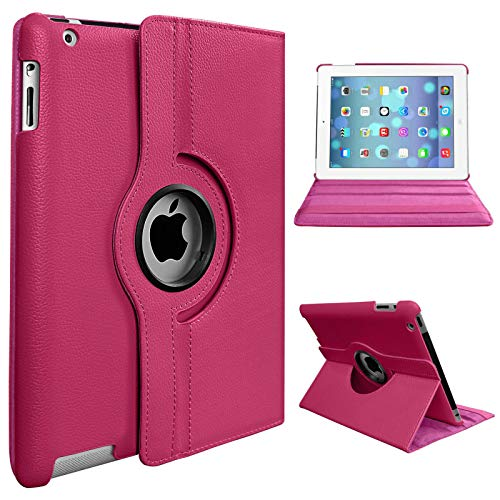 Smart Rotate 360° Stand Leather Case For Apple iPad Pro 10.5 (2017) GENERATION A1701 A1709 (PINK)