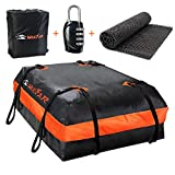 XBEEK Car Roof Bag Rooftop Cargo Carrier Waterproof 15 Cubic ft Car Top Carrier for All Ca...
