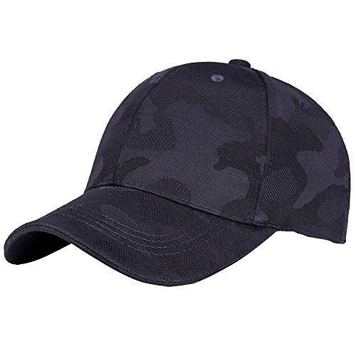 jieGorge Unisex Men Women Camouflage Baseball Cap Snapback Hat Hip-Hop Adjustable Caps, Hat, Clothing Shoes & Accessories (Blue)
