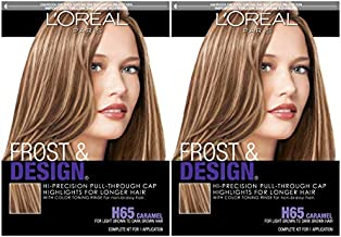 L'Oreal Paris Frost and Design Cap Hair Highlights For Long Hair, Caramel, 2 count