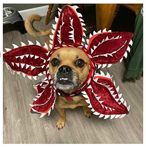 Disfraz de perro Demogorgon para cosplay de mascotas, gatos, cachorros, extraños, televisión, Halloween, decoración de tocado, diadema, accesorio para fiesta de Navidad, regalo rojo