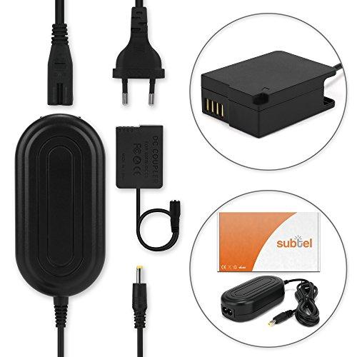 subtel® Fuente alimentación Compatible con Panasonic G7 G70 G6 G5 G80 G81 GX8 GH2 FZ1000 FZ200 FZ2000 FZ300 Lumix DMC-FZ1000 DMC-FZ300 DMC-G7 DMC-G81 DMW-AC8 + DMW-DCC8 Cable de Corriente