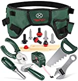 GeyiieTOYS 20 Teiliges Werkzeuggürtel Kinder Spielzeug Werkzeug Spielwerkzeug Werkzeugset Kinder für 3 4