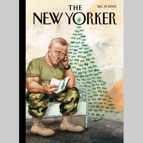 The New Yorker (Dec. 19, 2005) cover art