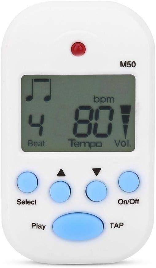 Alomejor Mini Metrónomo Portátil Multifuncional Clip-on Digital Beat Tempo Metrónomo para Piano Violín Guitarra Trampa Tambor
