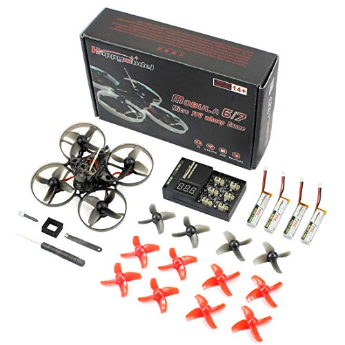QWinOut Happymodel Mobula7 Quadcopter Indoor Four-axis 2S 75mm Brushless Whoop Racer Drone BNF (Receiver for Flysky Standard Version)