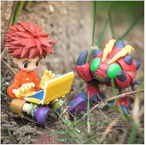 ZPTECH Exquisitas figuras de acción Digimon Figura Koushiro 'Izzy' Izumi & Tentomon Figura de anime Figura de acción Feng (color: por defecto)