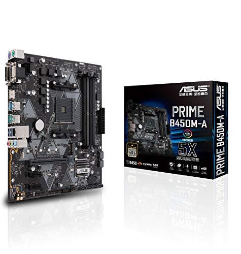 {ASUS AMD B450 搭載 AM4 対応 マザーボード PRIME B450M-A 【MicroATX】【 第3世代 AMD Ryzen CPU に対応】}