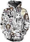 PANOZON Sudaderas Hombres Anime con Capucha Sweater Figura Bakugo Camiseta de Anime Mangas Largas (S...