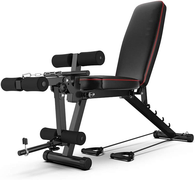 DUXX ダンベルベンチ、フィットネスチェアベンチプレスホームメンズフィットネス機器シットアップ腹筋 トレーニングベンチ