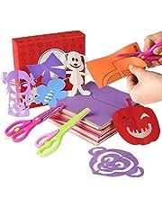 Mumoo Bear Fun Paper-Cut Set; Paper Cutting; Paper Art; Scissor Skills Activity Cutting Book; Kids Scissors Crafts Kits Preschool-120 Pages with A Pair of Child-Safe Scissors