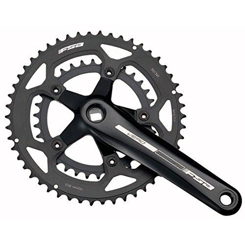 Full Speed Ahead FSA Vero Double/Compact Bicycle Crankset (Black - 39/53T - 175mm- JIS (S-9))