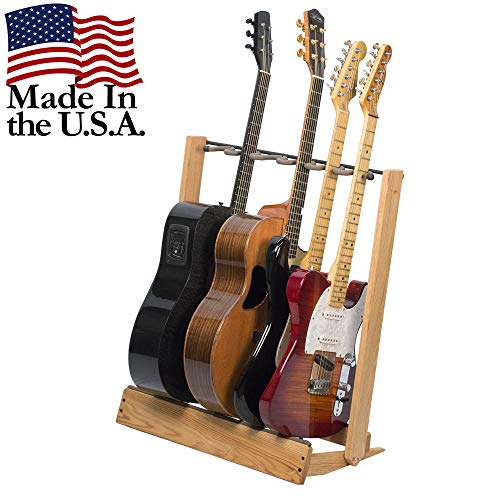 Guitar Stand for 6 Electric or Bass,or 3 Acoustic Guitars – Stand Accessories for Home or Studio - Keeps Musical Instruments Safe without Hard Cases