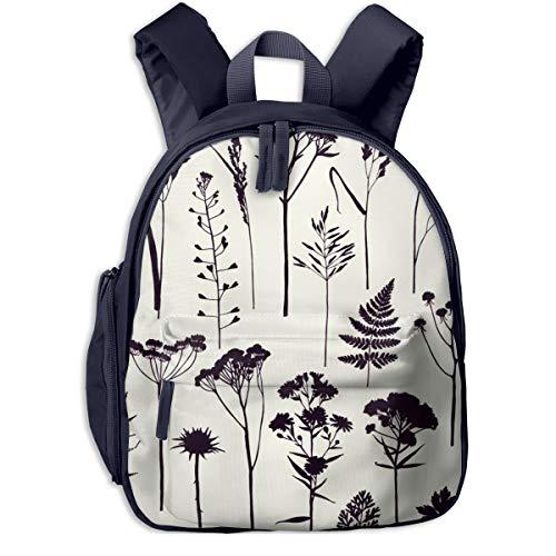Kinderrucksack Kleinkind Jungen Mädchen Kindergartentasche Botanische Pflanzen Herbarium Skizze Backpack Schultasche Rucksack